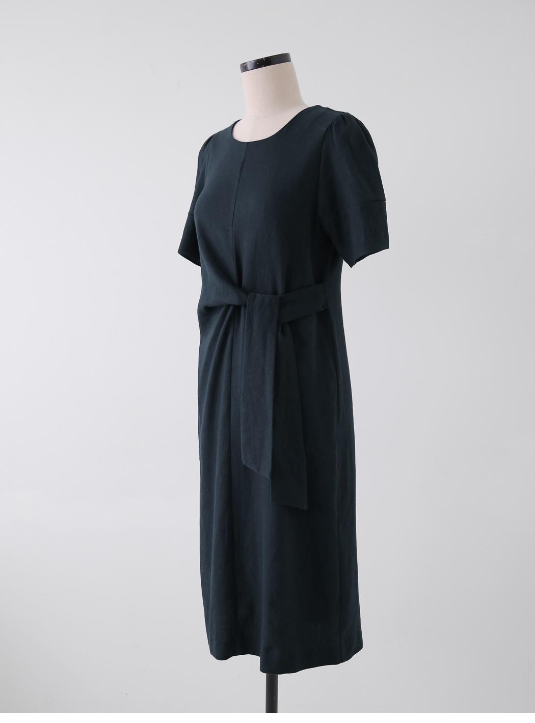 Destiny Side Wrap Linen Dress