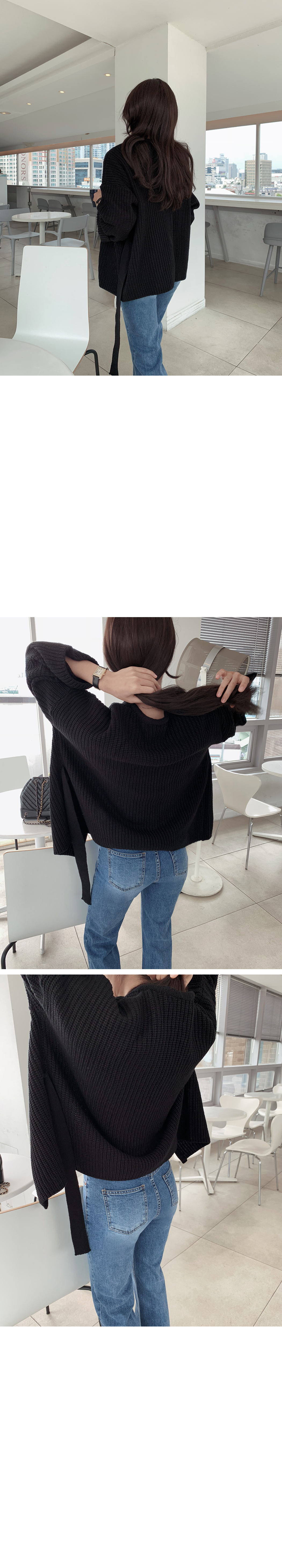 Strap belt wrap cardigan