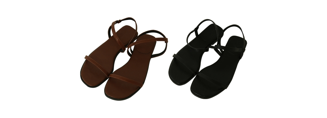 Simple line strap sandals