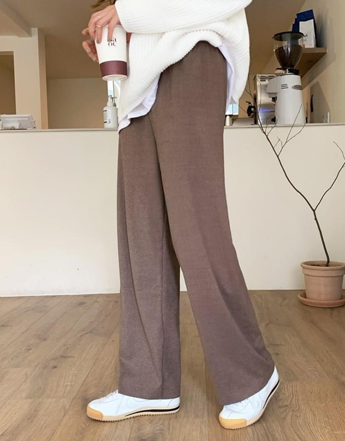 Pogni Soft Wide Banding Pants