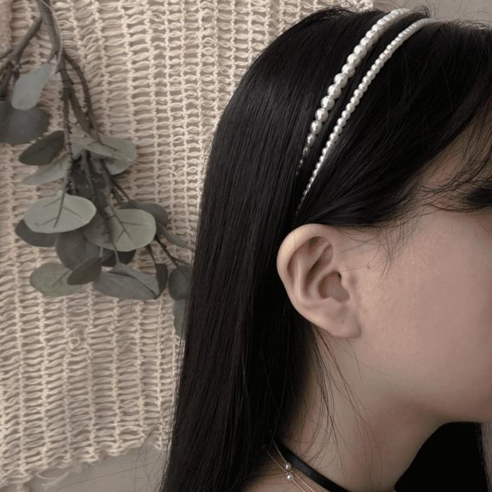 1729 pearl headband set 配飾