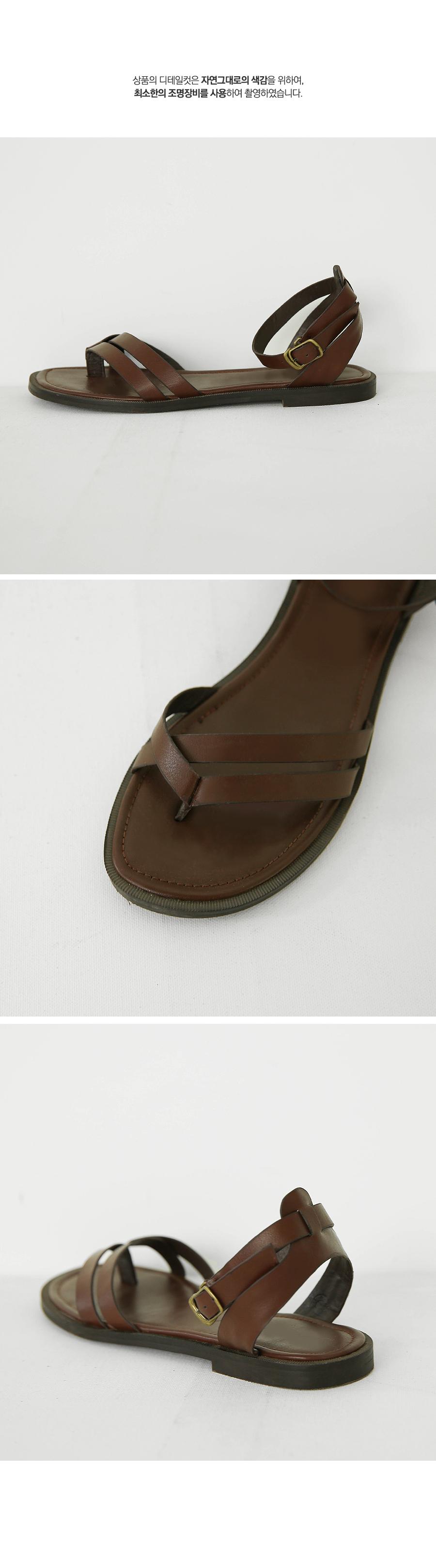 Buckleline strap sandals