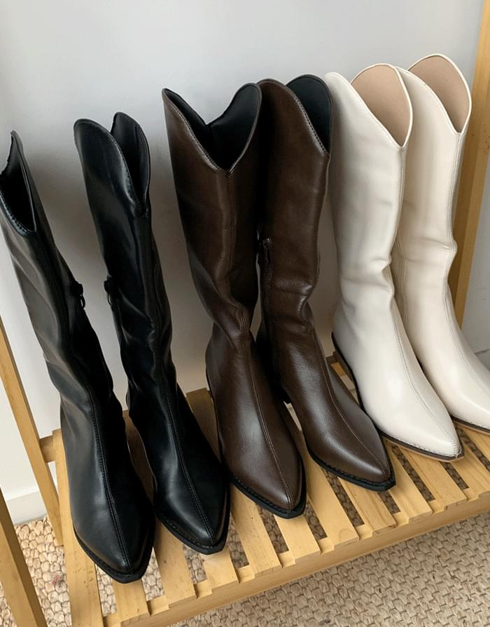 Long western boots
