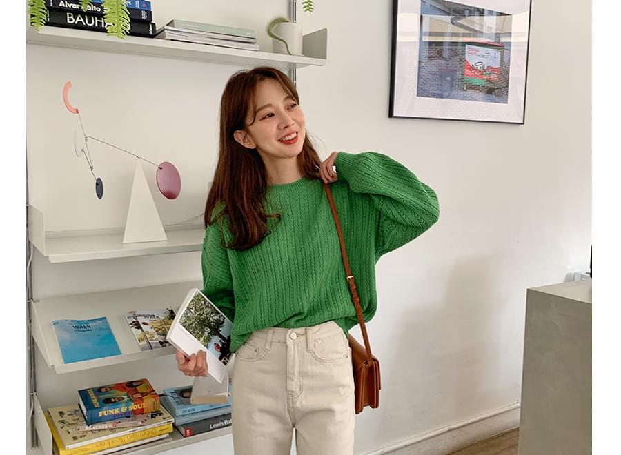 Plant loose round knit_Y