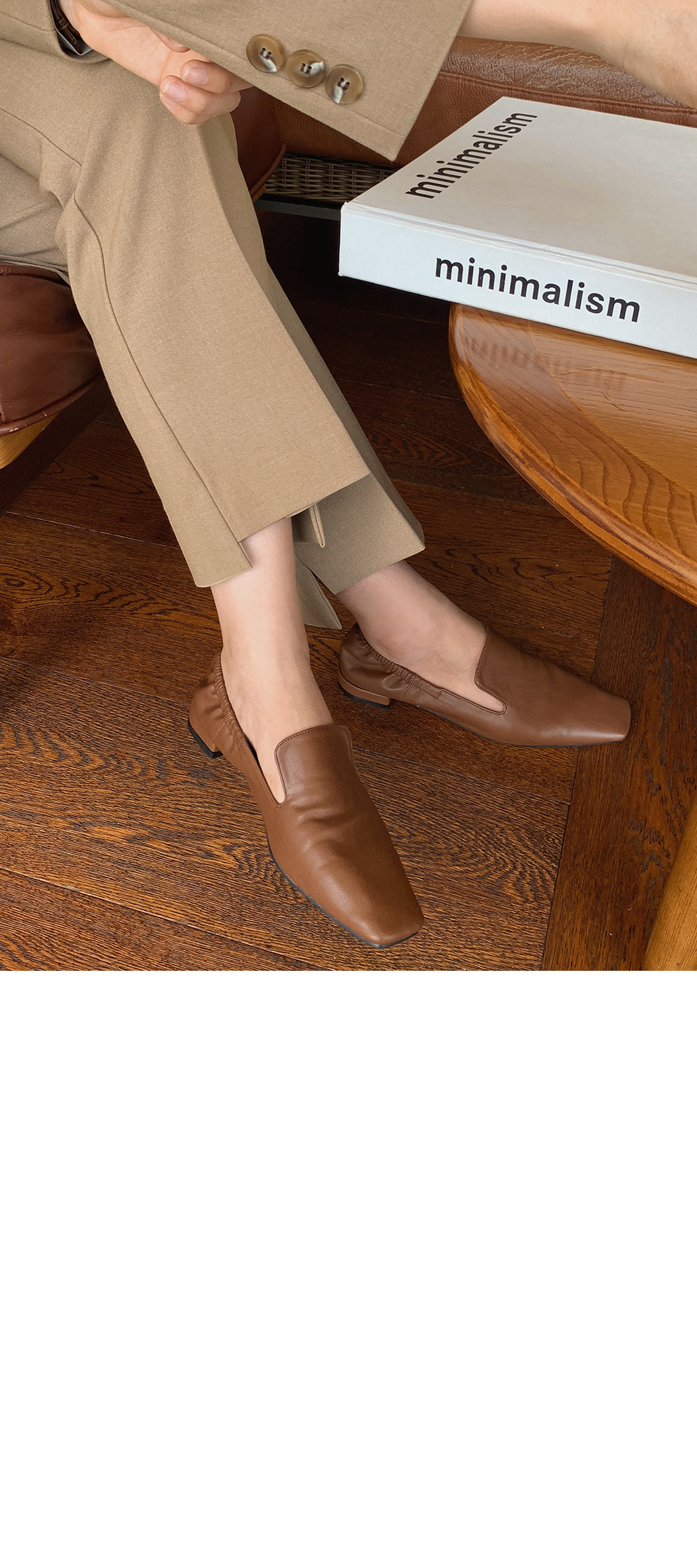 Square Line Banding Loafers