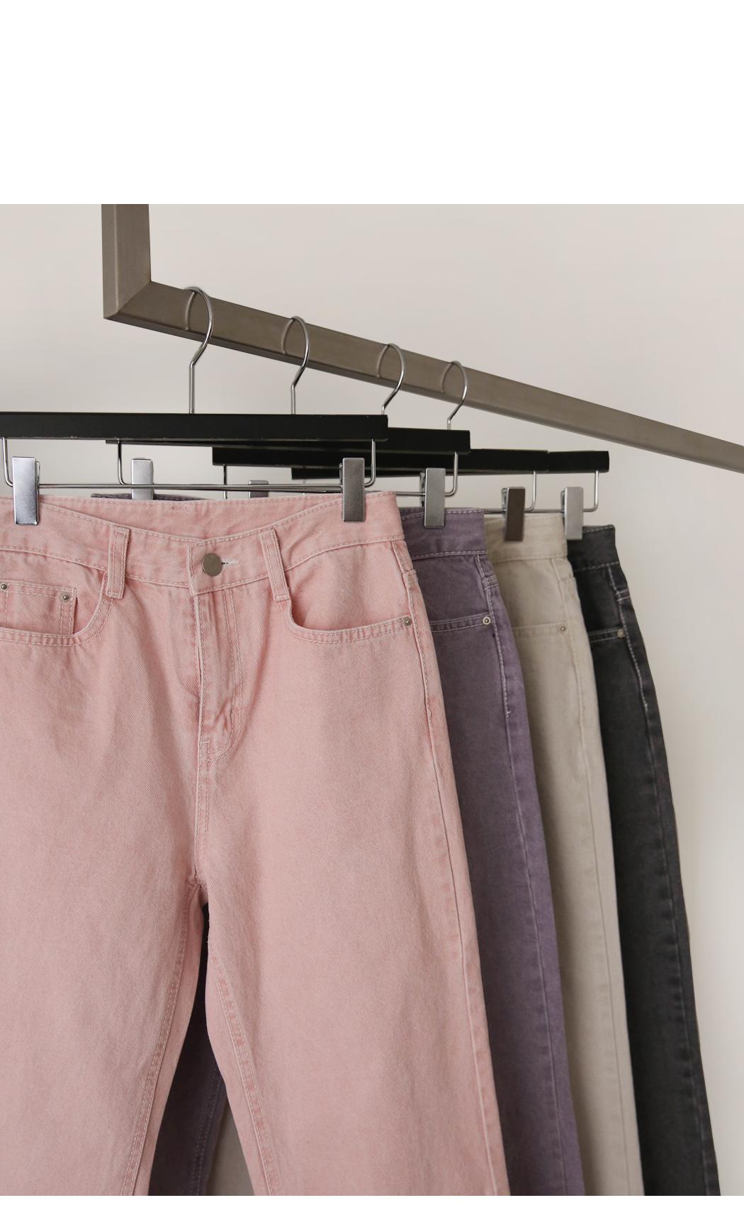 Indigo cropped trousers