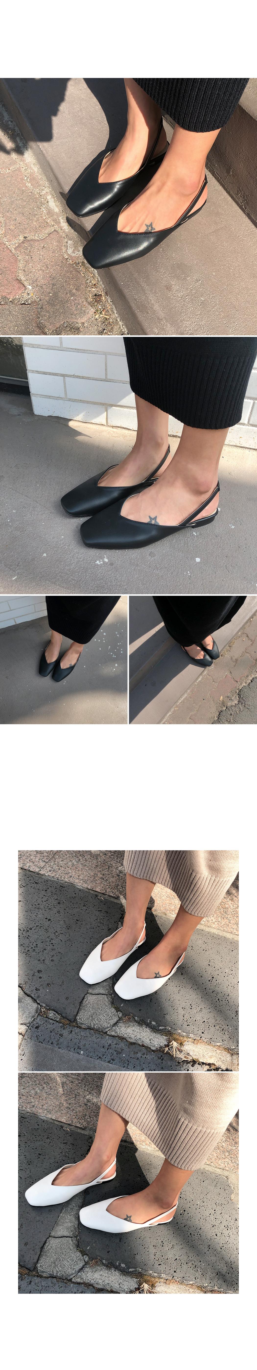 Bracket-slingback shoes
