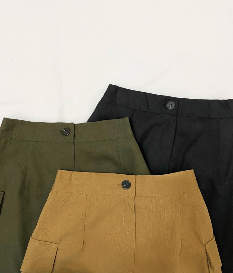 Cargo pocket mini skirt 裙子