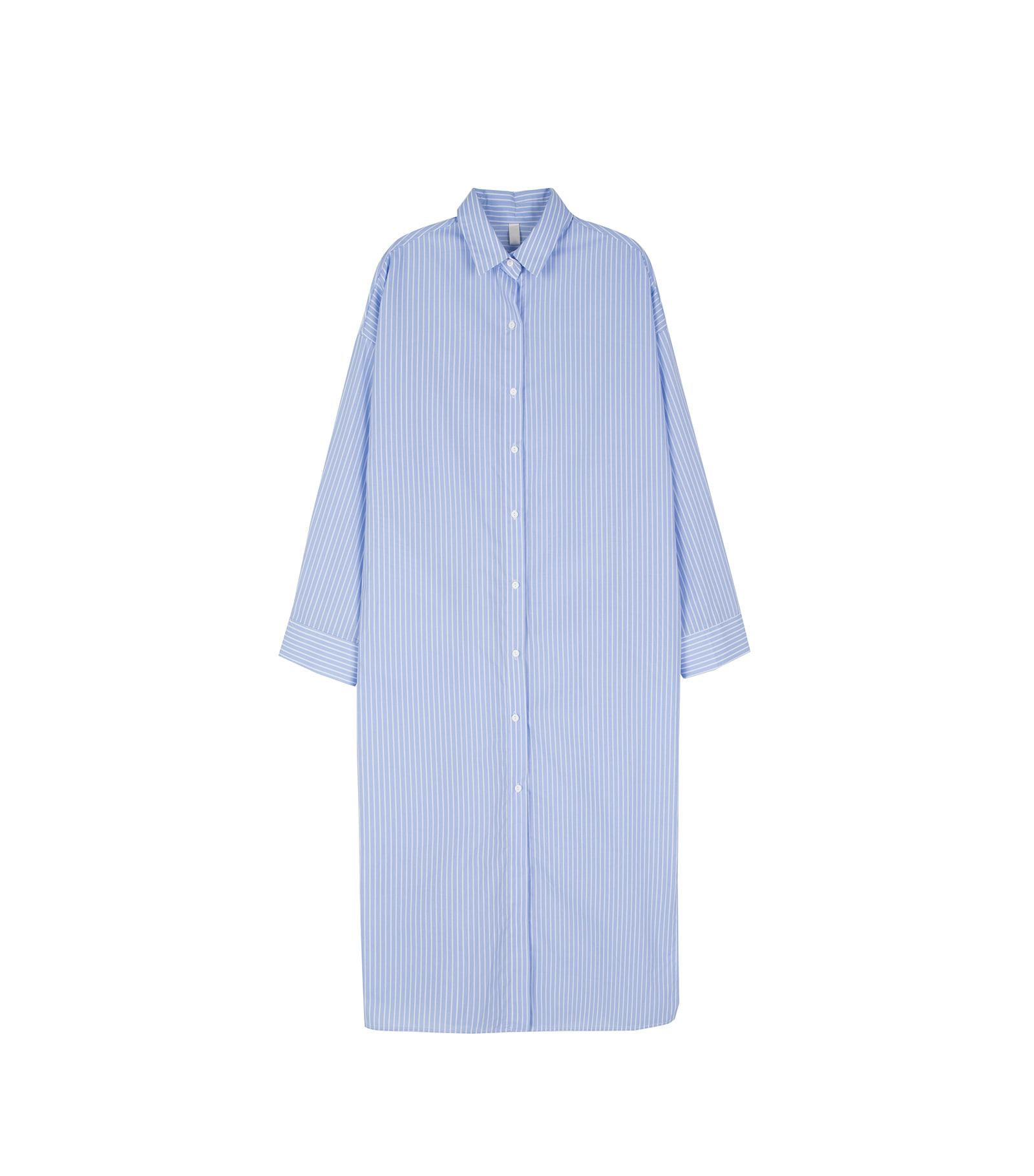 Saint striped shirt maxi dress