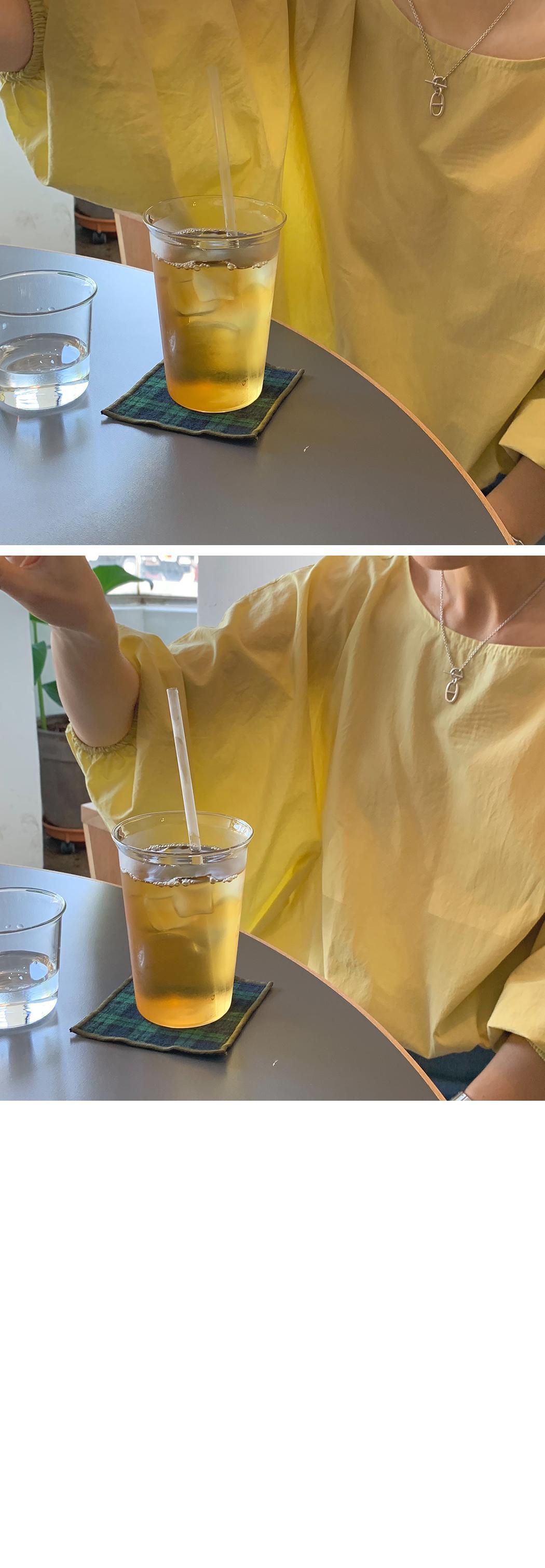 Lime Lemon Balloon Blouse