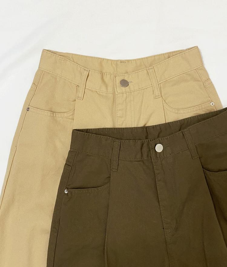 3212 boyfit cotton trousers 長褲