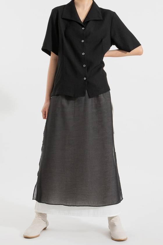 Labia layered string maxi skirt