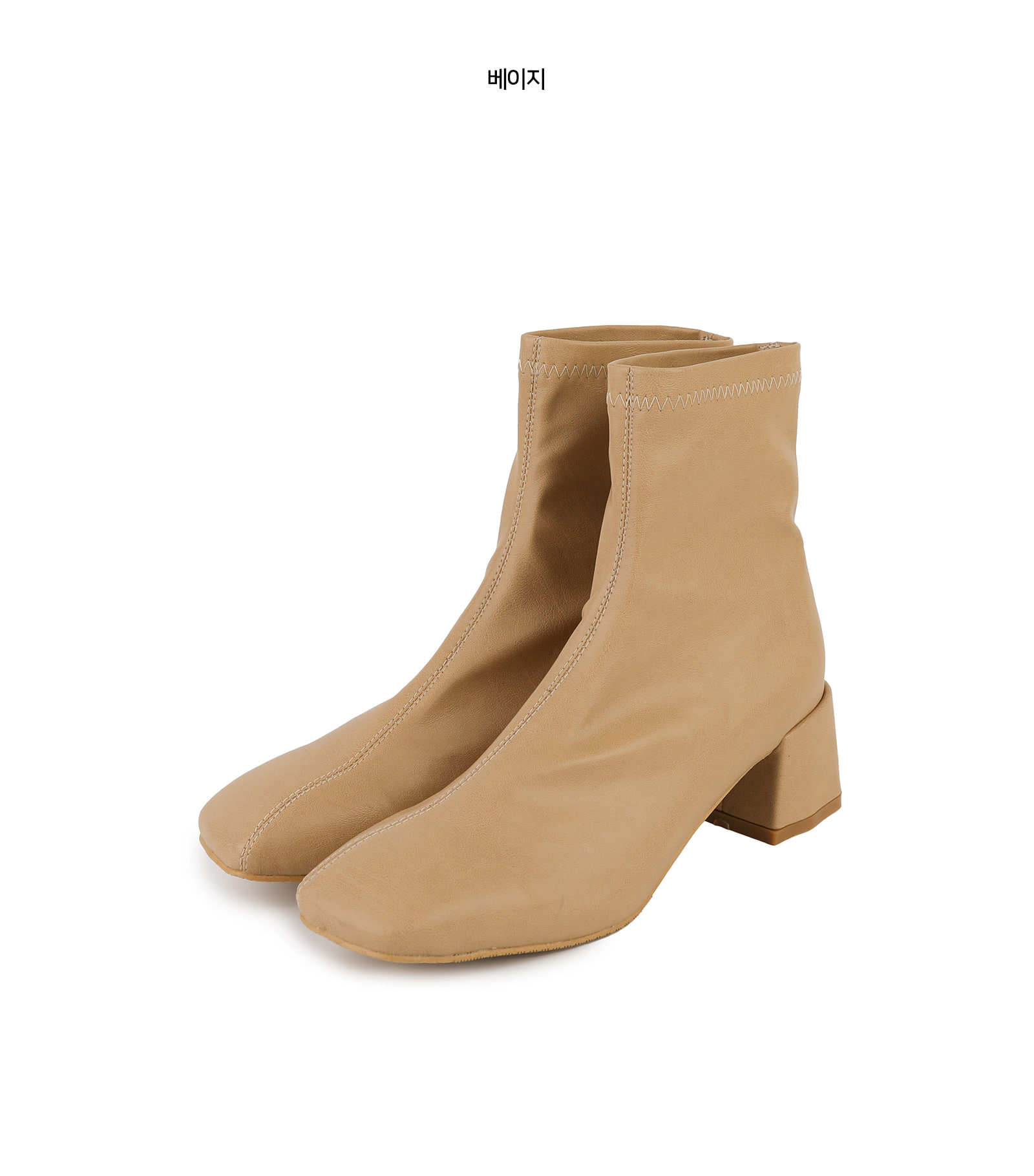 Skinny middle heel ankle boots