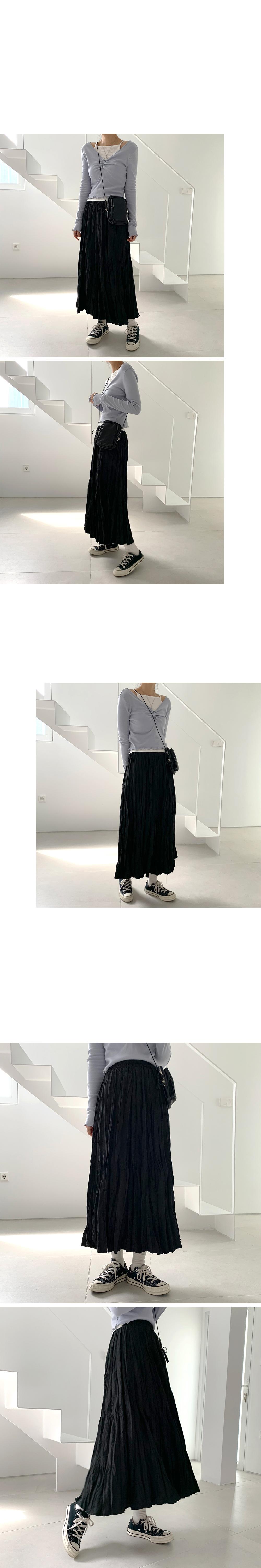 Day wrinkle long skirt