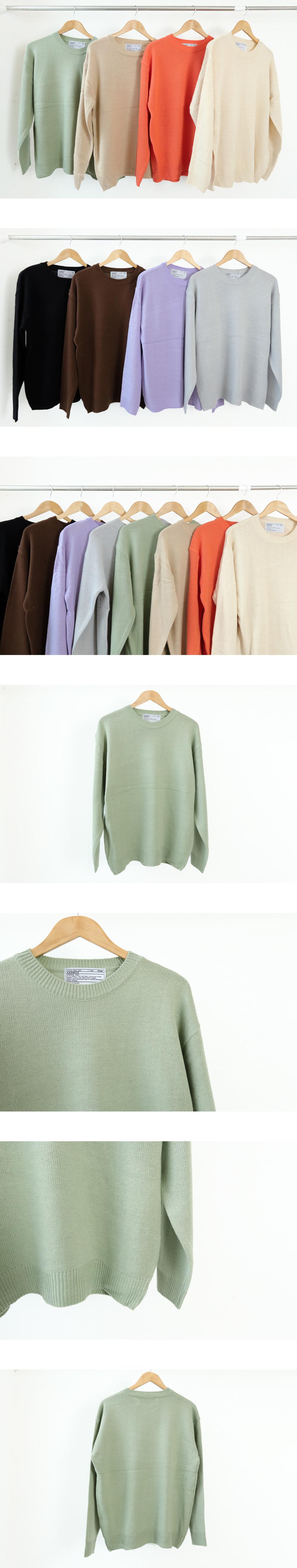 Basic round boxy knit