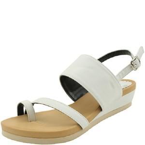 韓國空運 - Flip-Flop Full Heel Sandals White 涼鞋