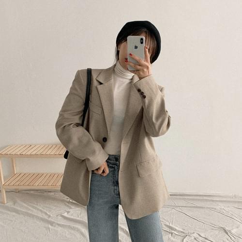 Tomboxy check jacket