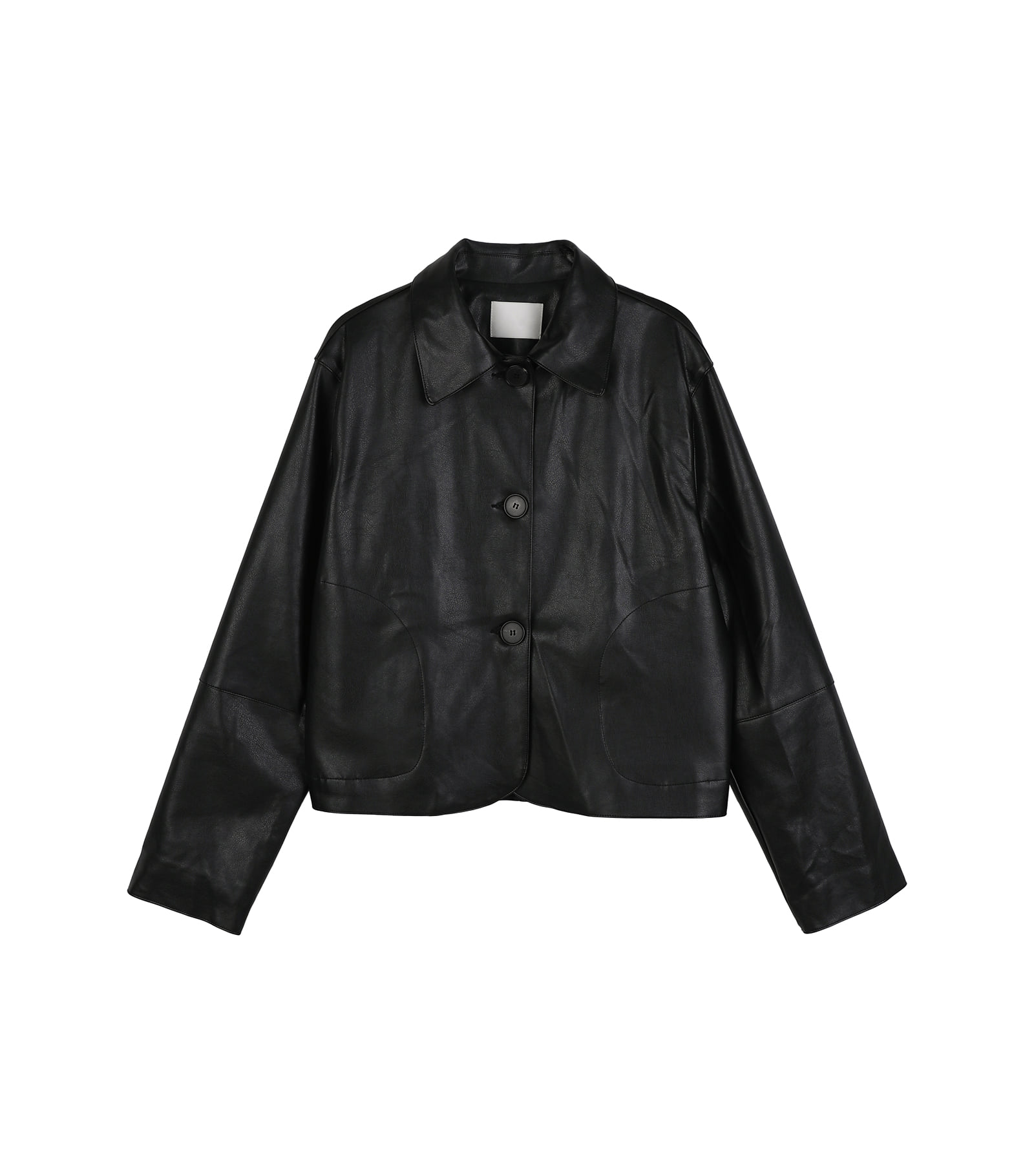 Tom three-button short leather jacket