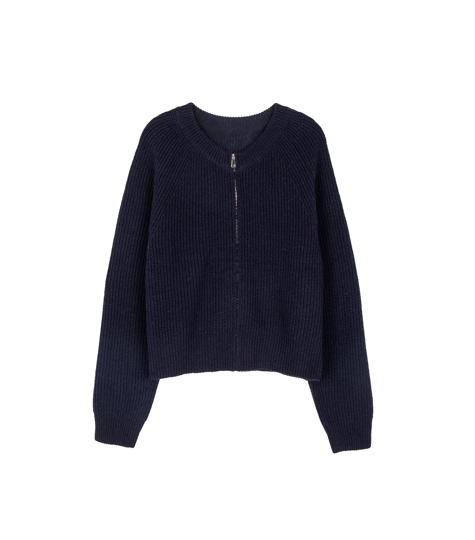 Northel zip-up knit cardigan