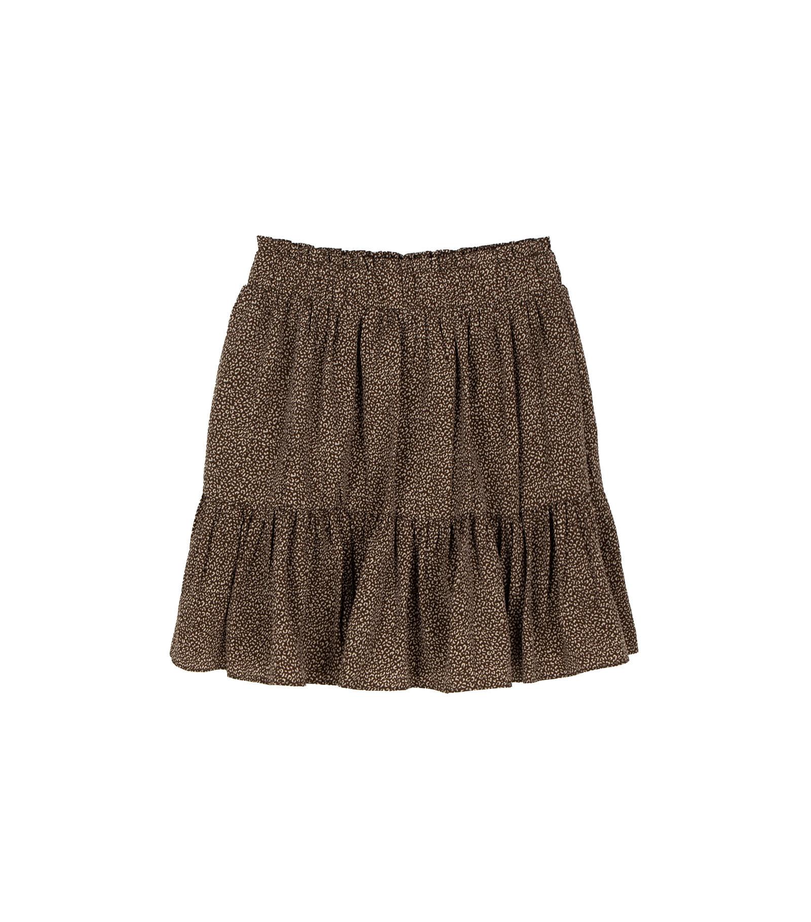 Hold leopard mini skirt