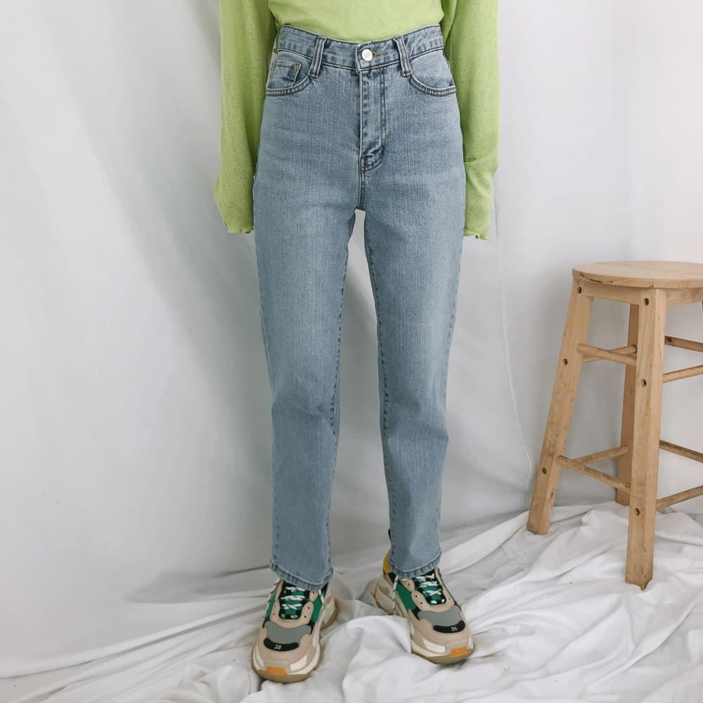 韓國空運 - 530 Centum Straight Slim Light Denim Pants 牛仔褲