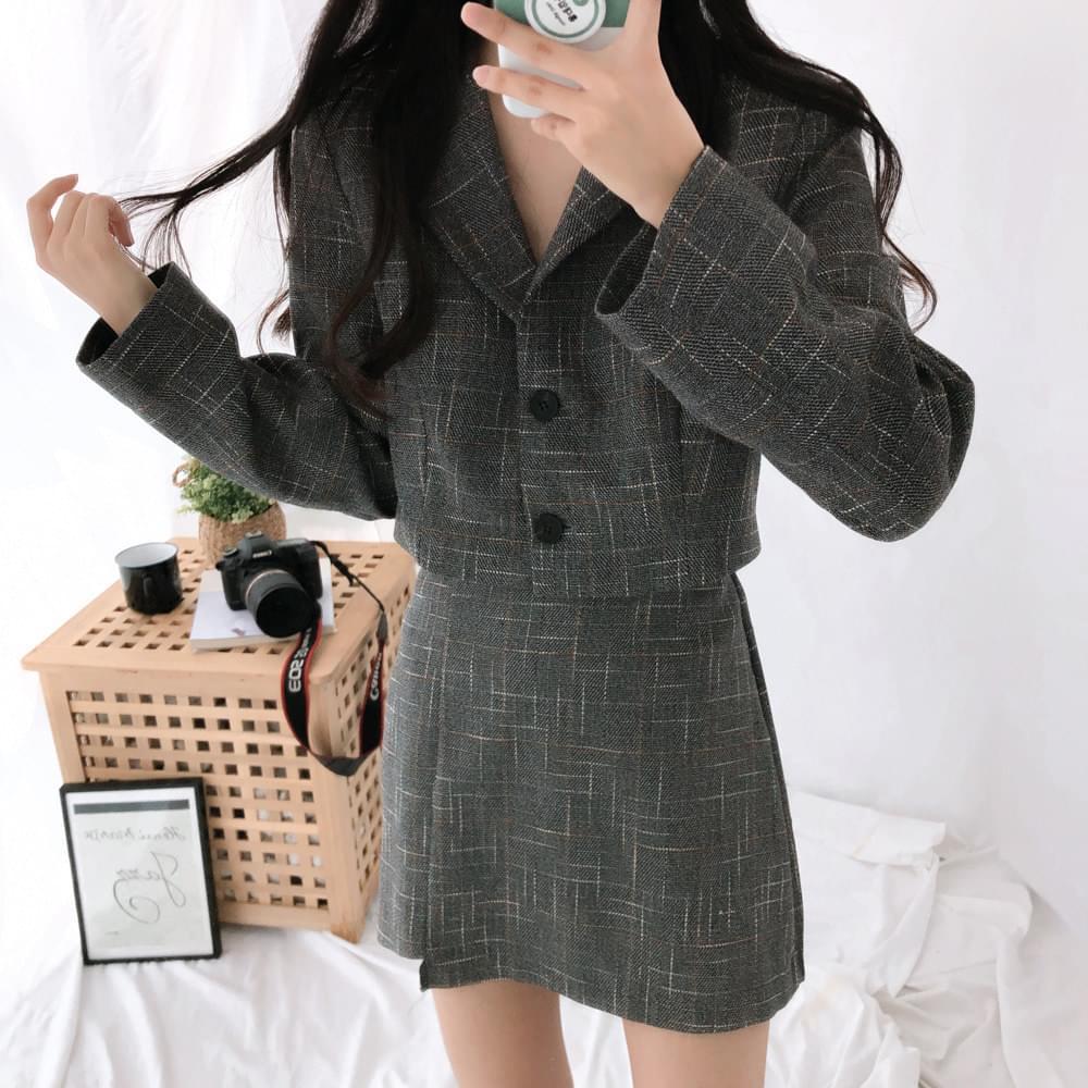韓國空運 - Crunch cropped jacket 夾克外套