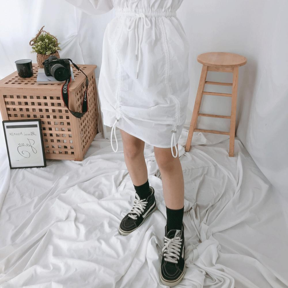 Anorak string dress