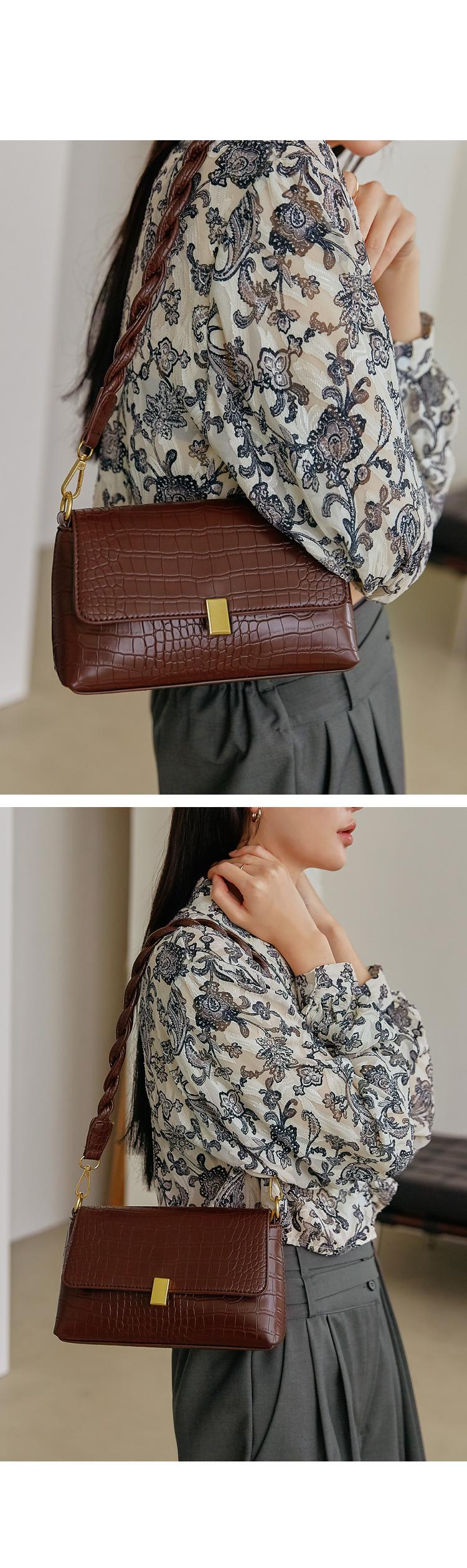 Crocodile Skin Shoulder Bag