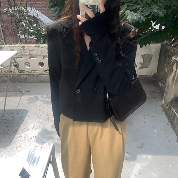 Yumine double short jacket