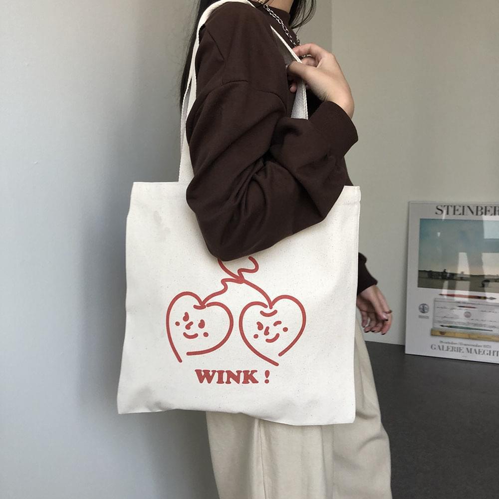 Character Illustration Canvas Eco Bag Cotton Oatmeal Shoulder Bag 帆布包