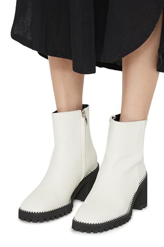 Ride high heel ankle boots