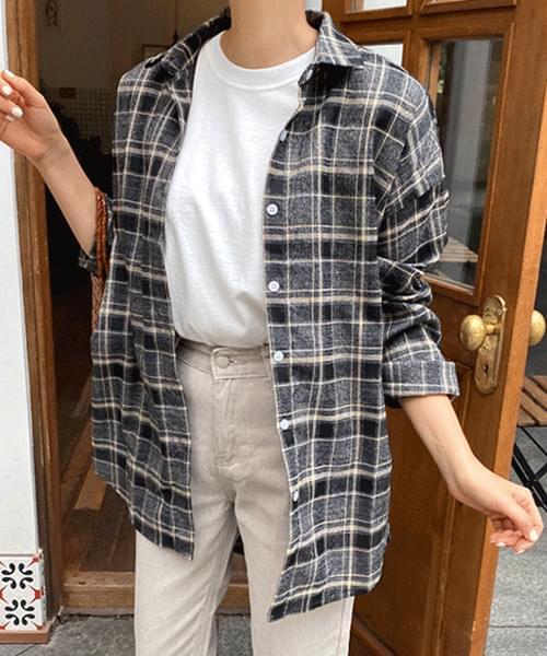 Autumn overfit check shirt