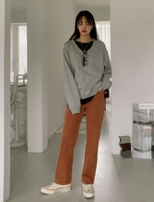 Muffin high waist straight cotton pants 長褲