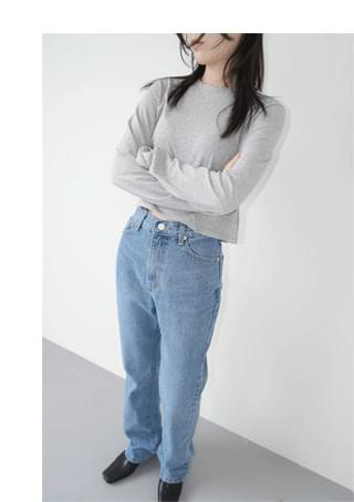 soft texture straight denim デニムパンツ