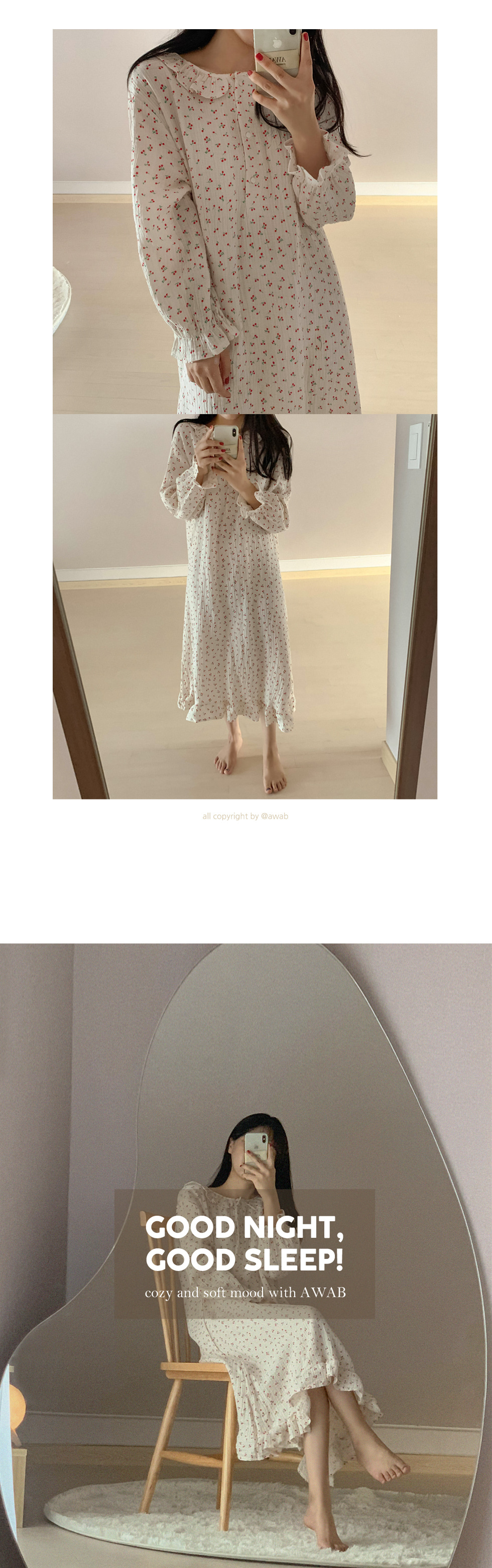 #homewear_homewear: frill cherry long dress