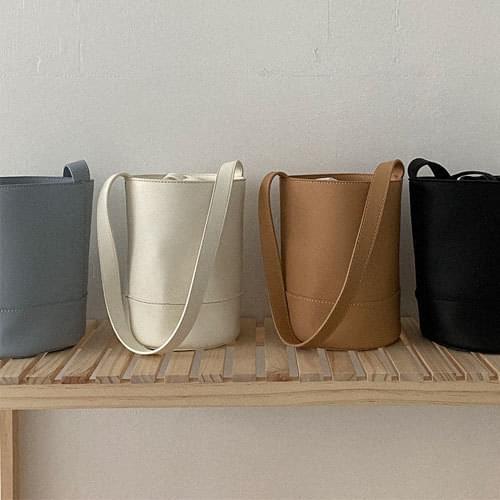 柔和純色圓筒型水桶包