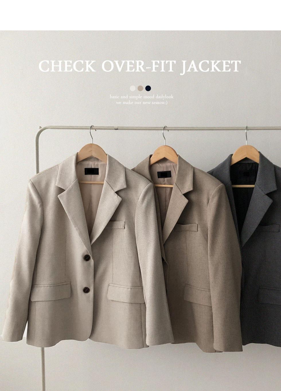 Tomboxy check jacket
