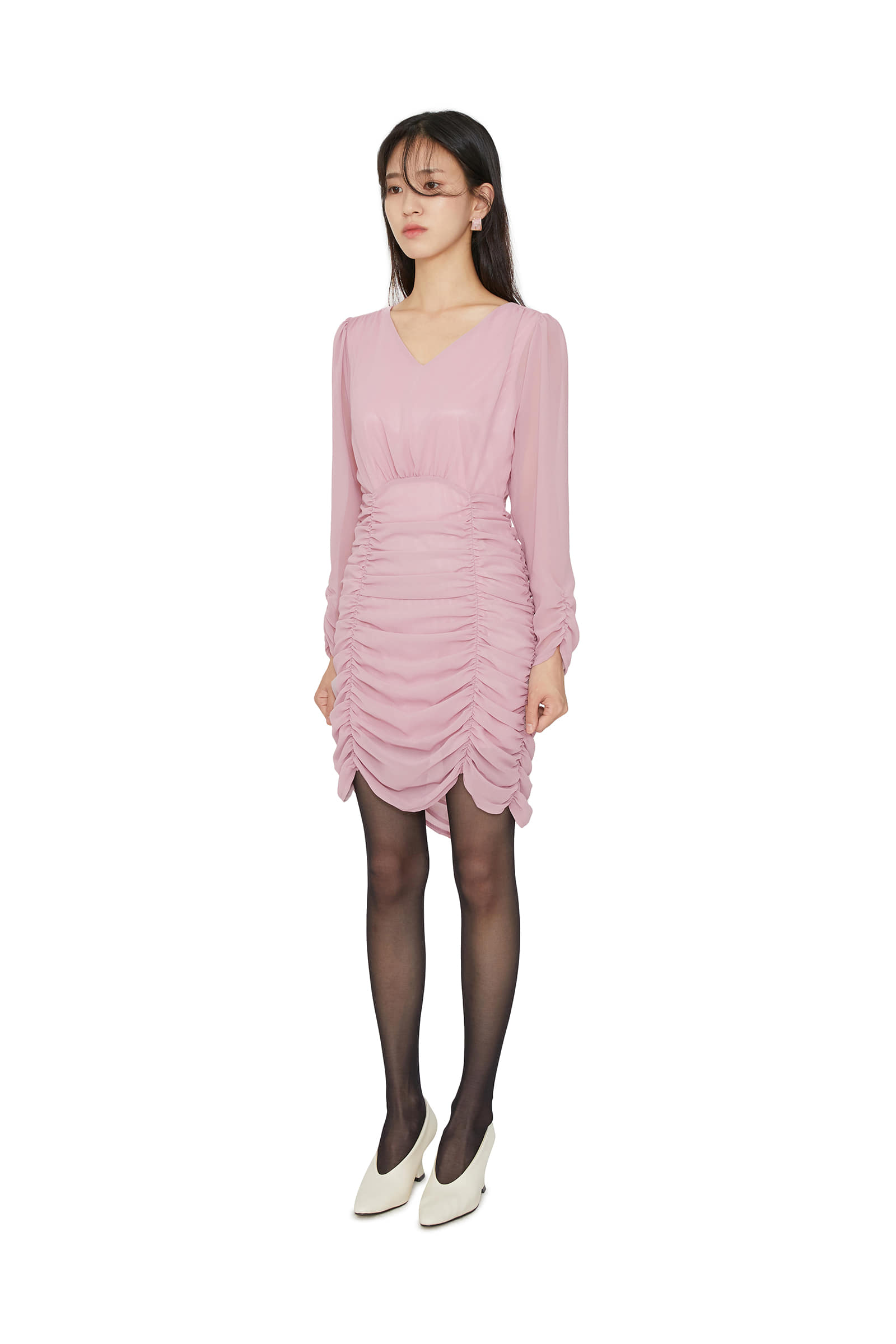 Laurent ruched mini dress