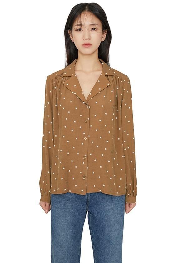 Delo pattern collar blouse