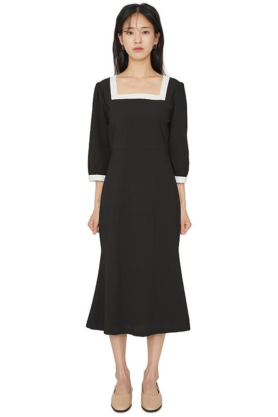 Dali color line midi dress