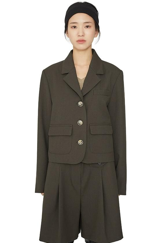 Sasen pocket cropped jacket 夾克外套