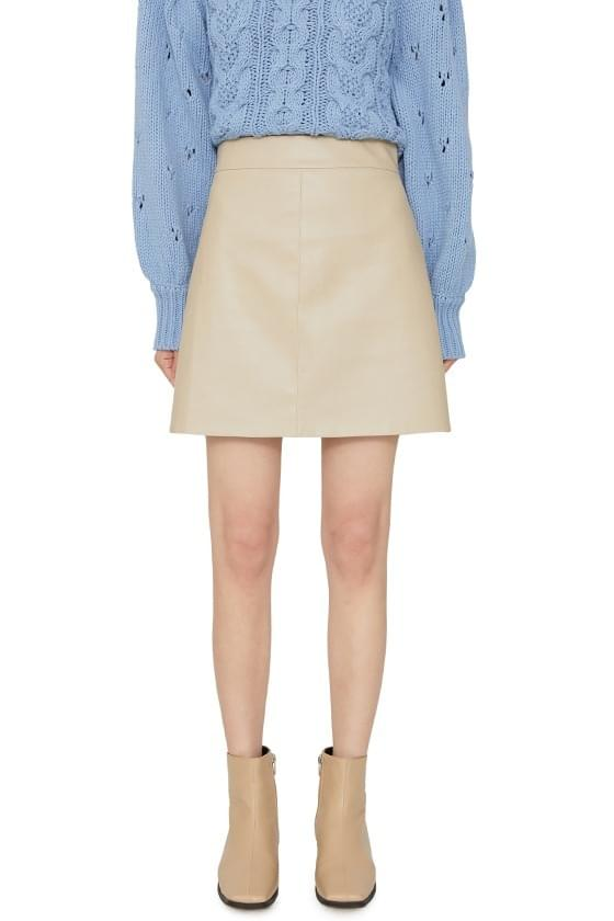 Room leather mini skirt