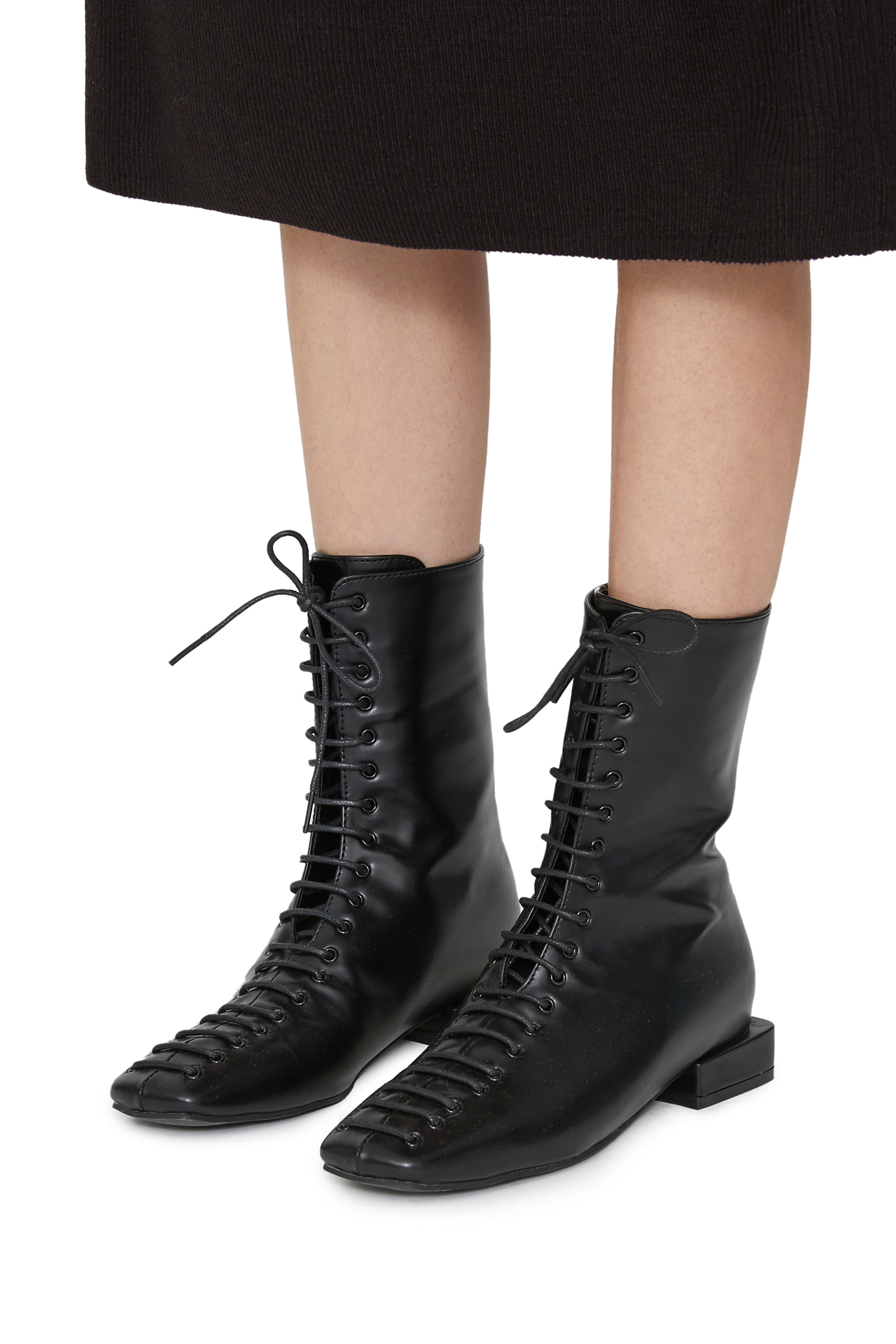 Carney square lace-up ankle boots
