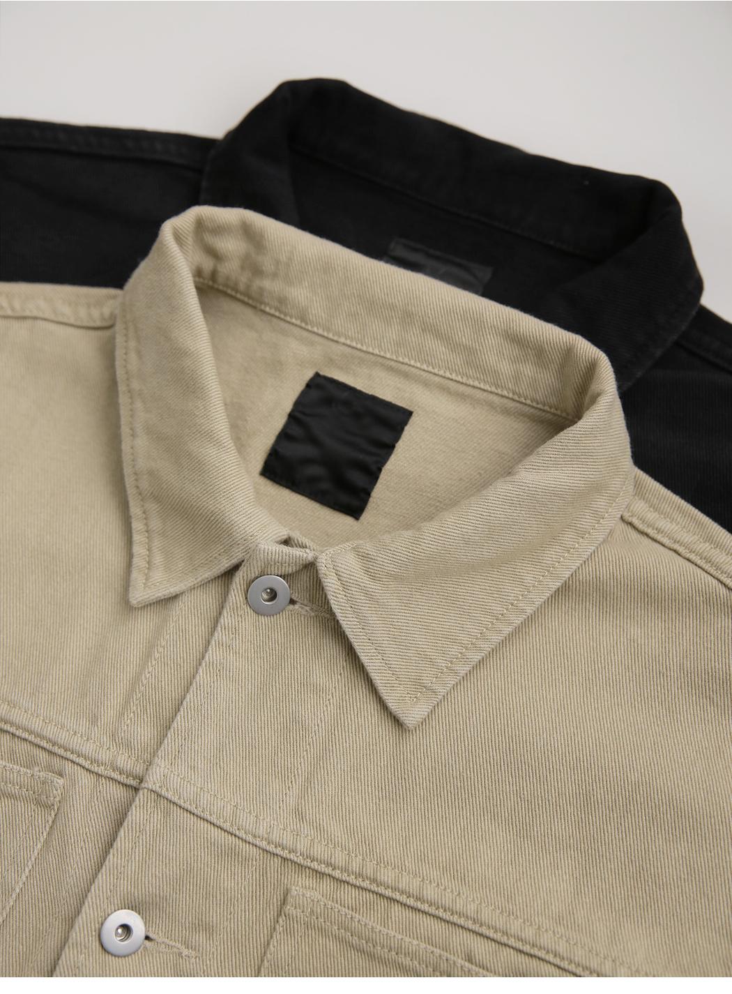 《Planned Product》 Neutral Denim Trucker Jacket