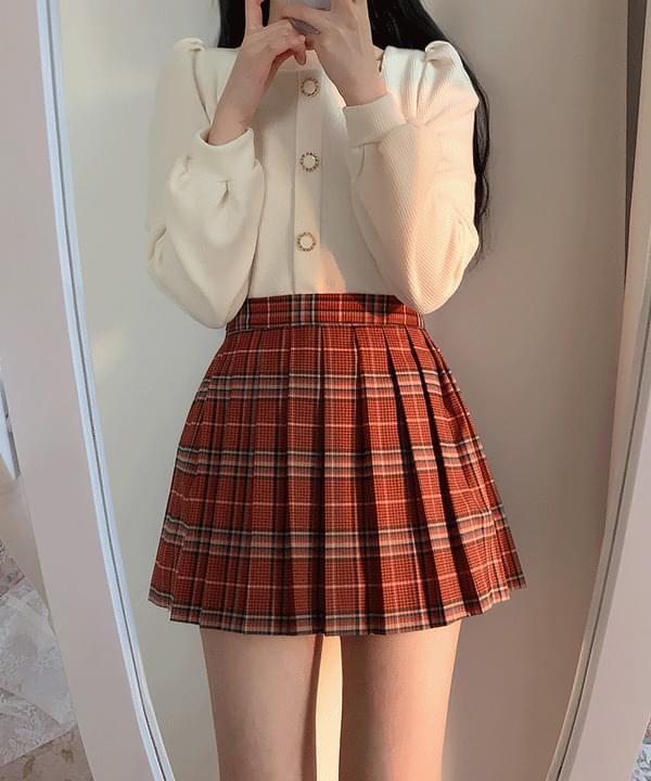 Com's Check Tennis Mini Skirt