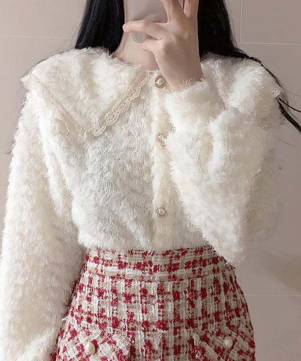 Max fur collar cardigan 開襟衫