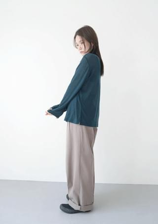 tencel x wool soft tee 長袖