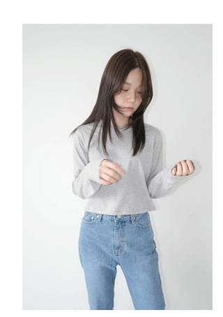 cropped long sleeve top 長袖