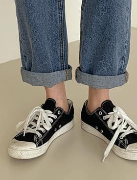 韓國空運 - Tools roll-up Baggy PT 牛仔褲