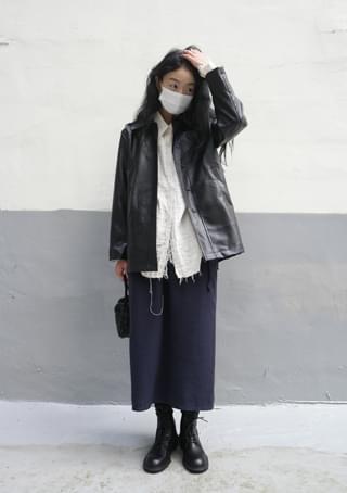 waist strap banding H-line skirt (3colors)